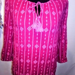Tommy Bahama Patterned Blouse M